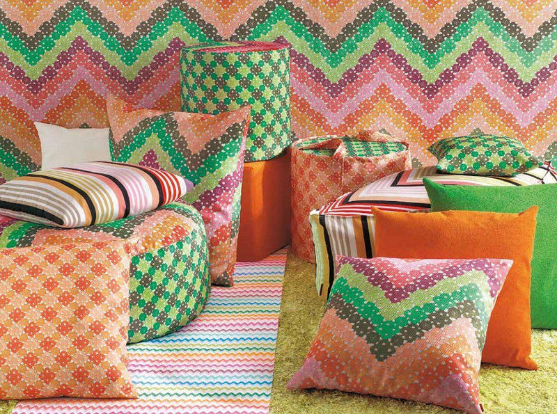 Missoni Cushion and Footstool Collection - Macrocrochet Outdoor - italydesign.com