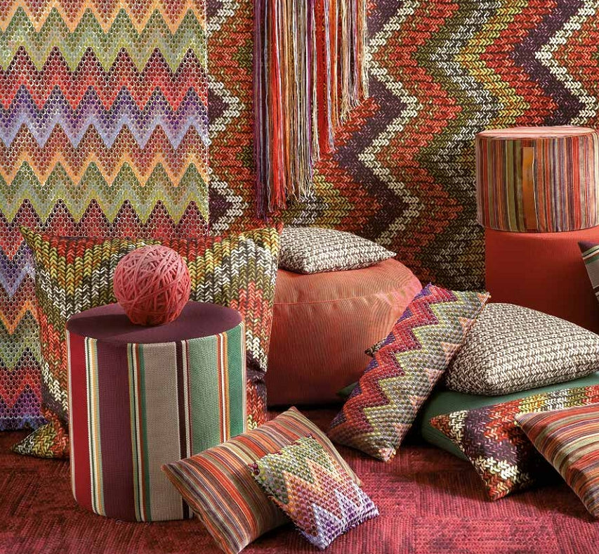 Missoni Cushion and Footstool Collection - Macro Knit - italydesign.com