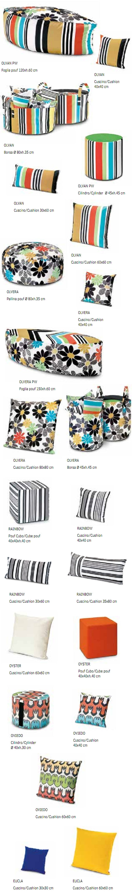 Missoni Cushion and Footstool Collection - Margherita Outdoor - italydesign.com