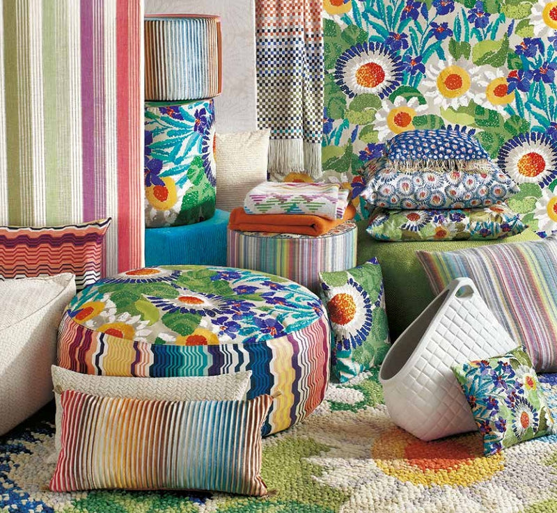 Missoni Cushion and Footstool Collection - Margherita Pointillée - italydesign.com