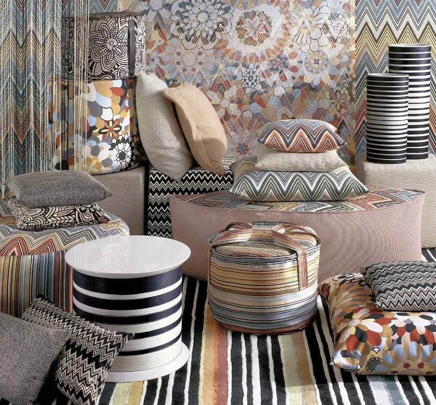 Missoni Cushion and Footstool Collection - Master Moderno Trevira 160 - italydesign.com