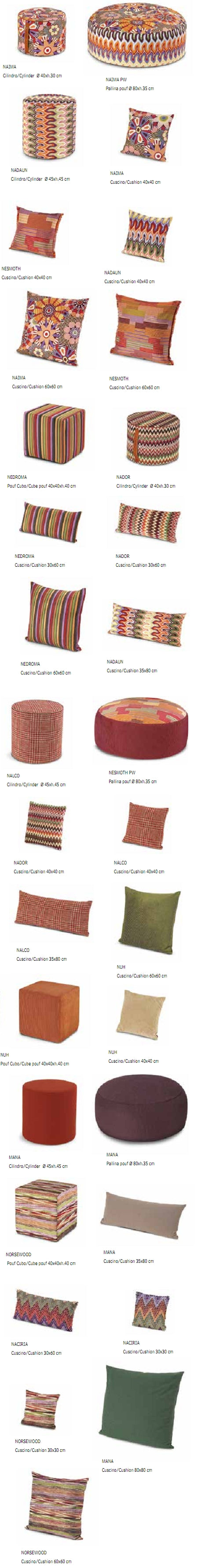 Missoni Cushion and Footstool Collection - Murrine - italydesign.com