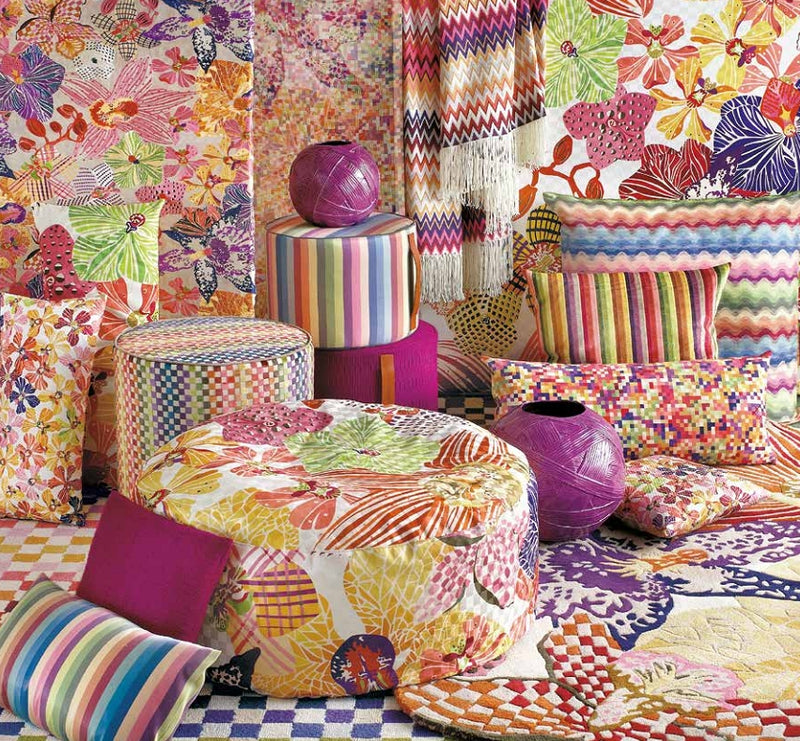 Missoni Cushion and Footstool Collection - Orchidee 156 - italydesign.com