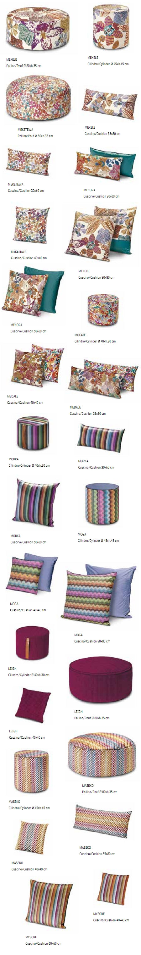 Missoni Cushion and Footstool Collection - Orchidee 160 - italydesign.com
