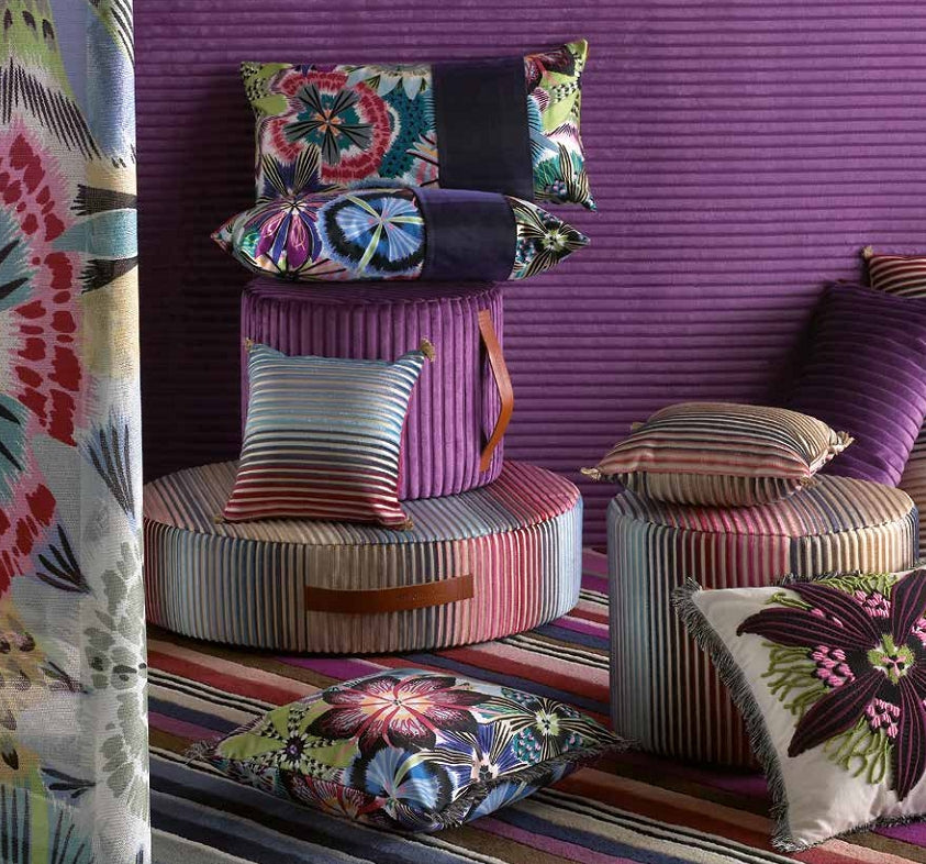 Missoni Cushion and Footstool Collection - Passiflora T50 - italydesign.com