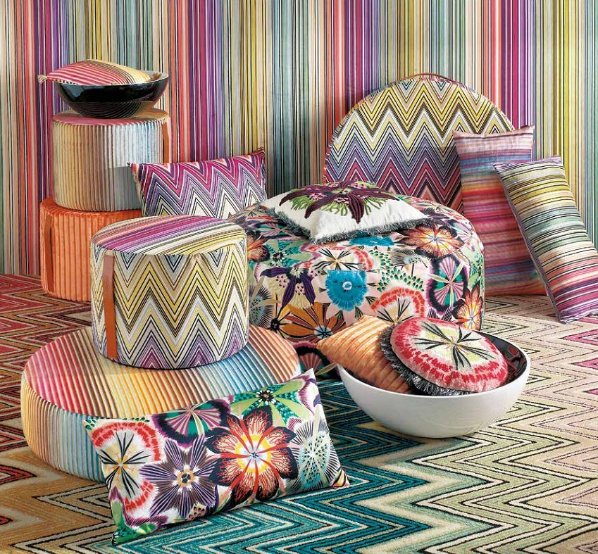 MissoniHome  ottomans and  pillows - Passiflora T59 - italydesign.com