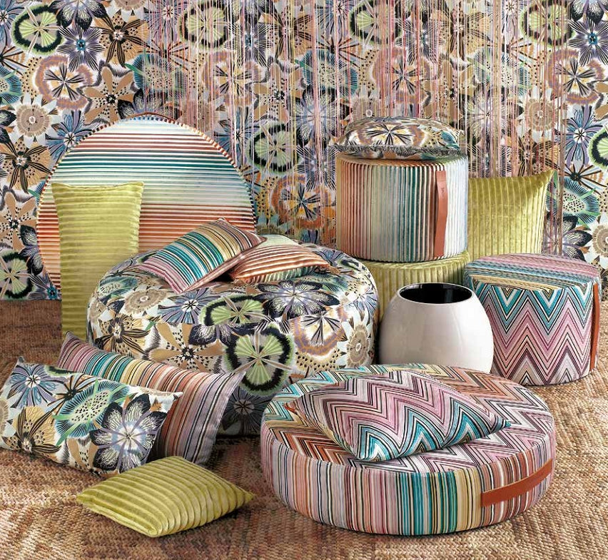 Missoni Cushion and Footstool Collection - Passiflora T60 - italydesign.com