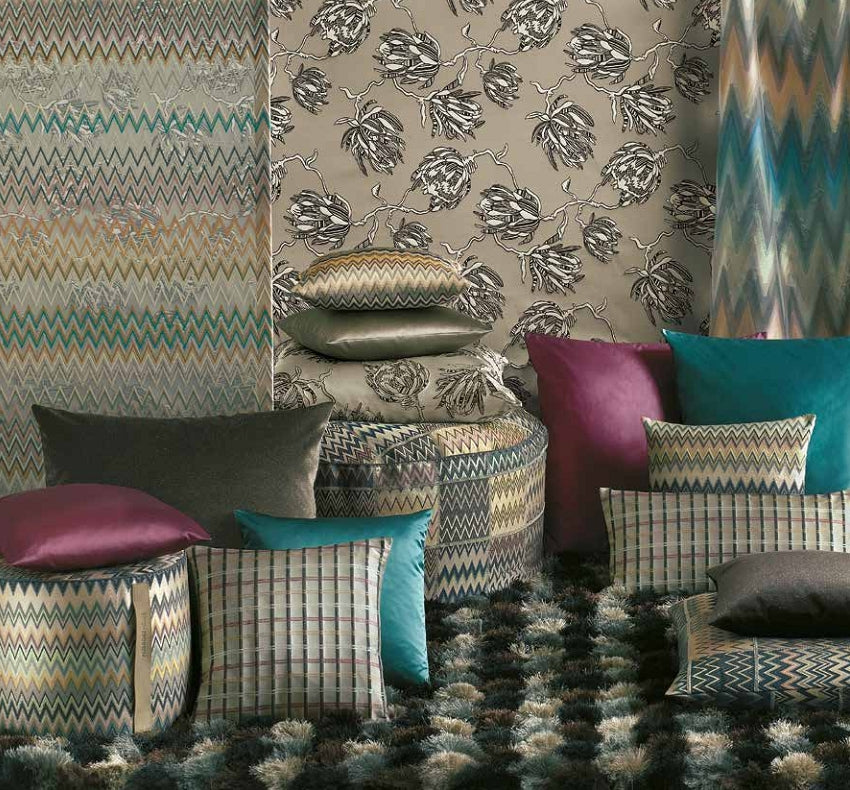 Missoni Cushion and Footstool Collection - Protee Silver - italydesign.com