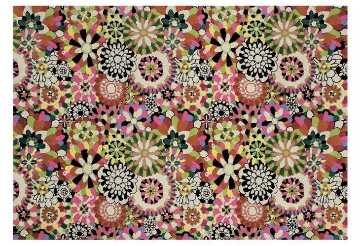 vibrant floral print rug made in Italy by MissoniHome