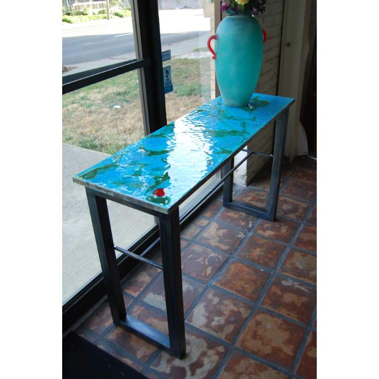 Ceramic Stone Modern Art Console Table Collection