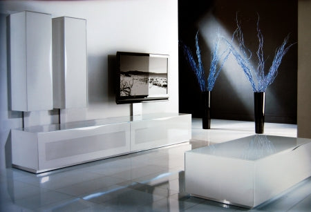TV room full of designer Italian furniture