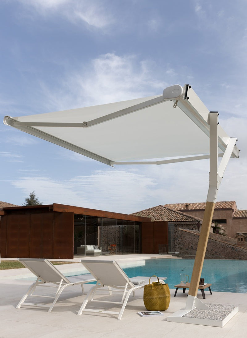 Salento Motorized Umbrella - Italian designer motorized pool umbrella