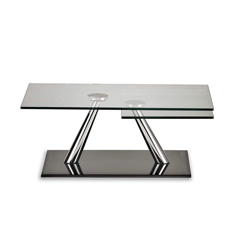 Aqui' - glass topped dining table by NAOS