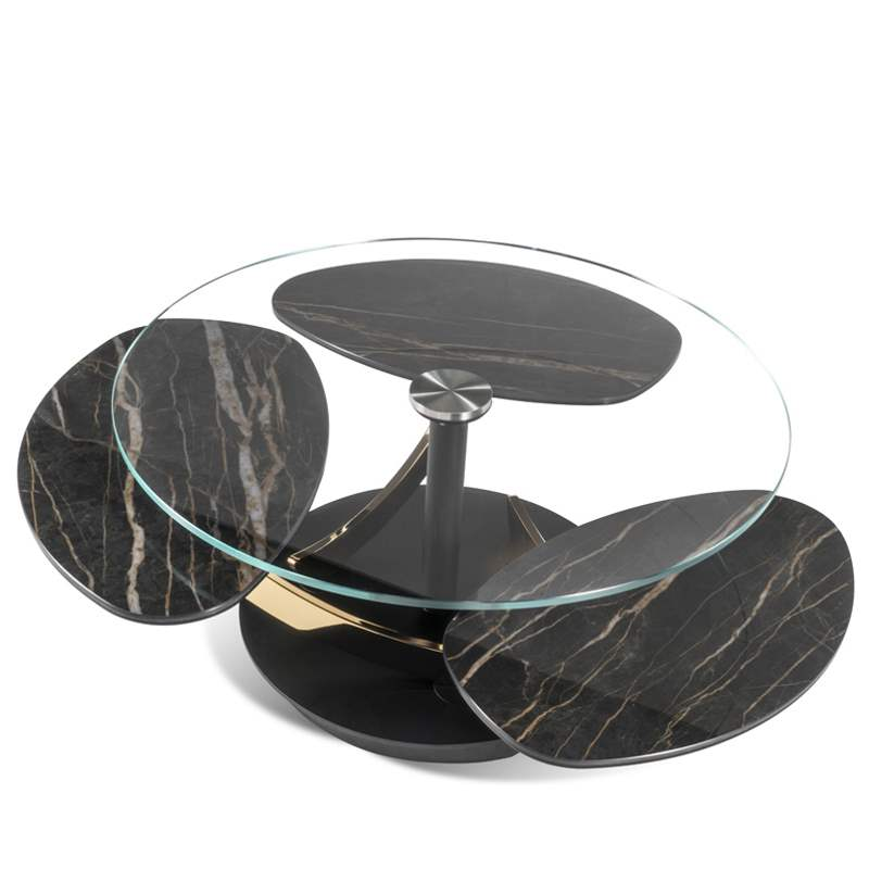 Luxury italian coffee table with varied levels of table top