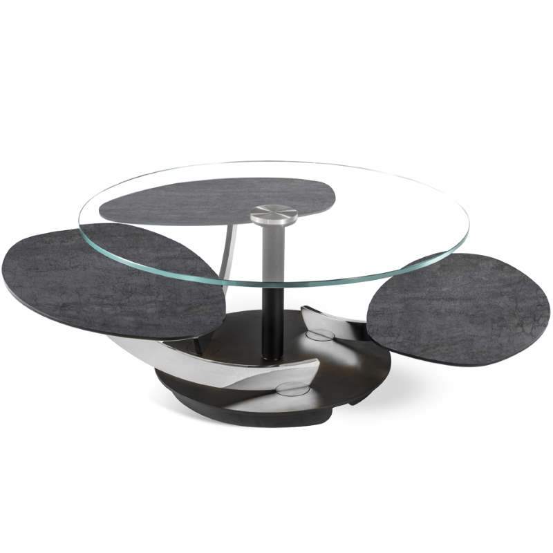 Stone and glass coffee table made in Italy