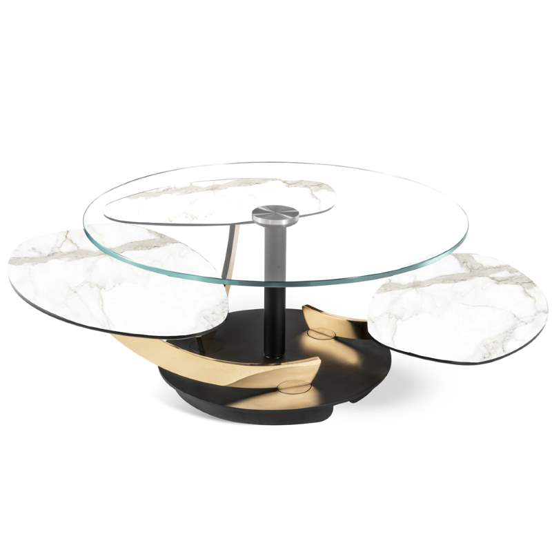 All glass top version of the Petres coffee table by NAOS