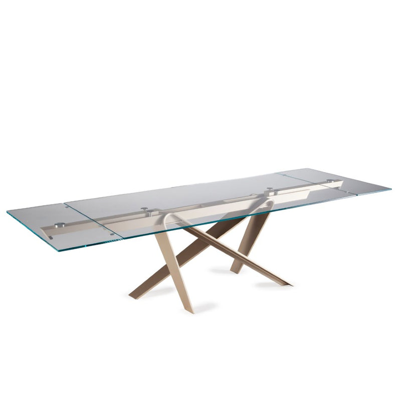 Italian expandable table partially extended