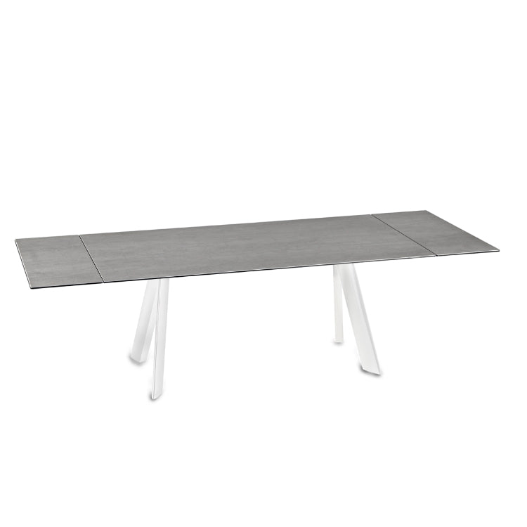 Felix - Extendable glass topped dining table by NAOS