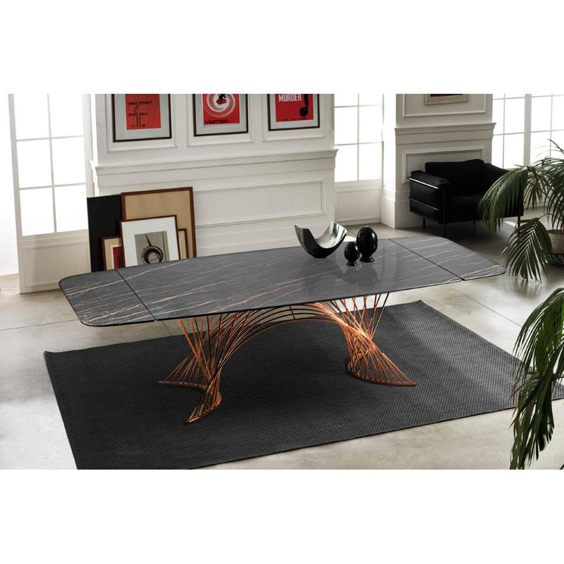La Tour - Expandable  dining table modern style with Ceramic  top made in Italy by NAOS