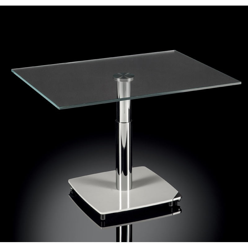 Sirio - Adjustable height glass  dining table made in Italy by Naos