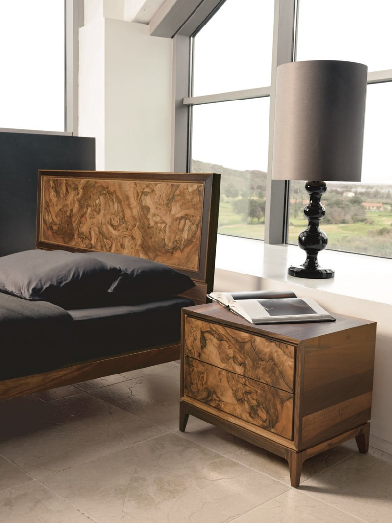Burlwood Nightstand - Modern Furniture | Contemporary Furniture - italydesign