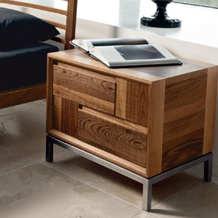 Toscano Nighstand made in Italy from walnut