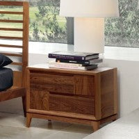 Toscano Nighstand - Modern solid walnut nightstand made in Italy by Italydesign