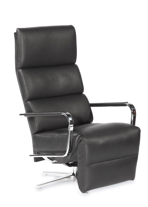 Designer leather recliner
