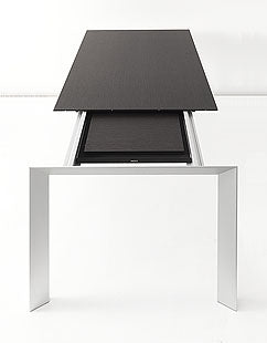 Kristalia Nori Dining Table: Black Top finish