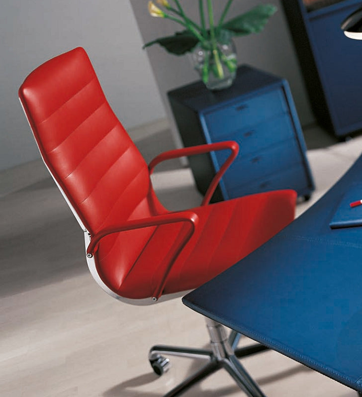 Verona Executive Office Chair - with red leather