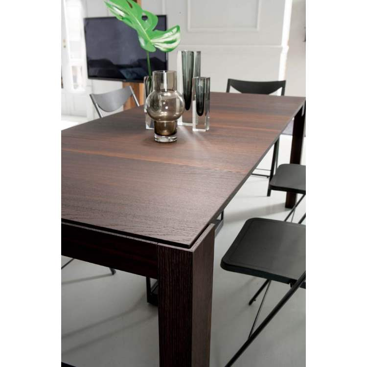 angled view of Italian dining table