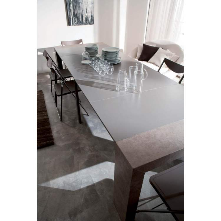 fully expanded Italian dining table