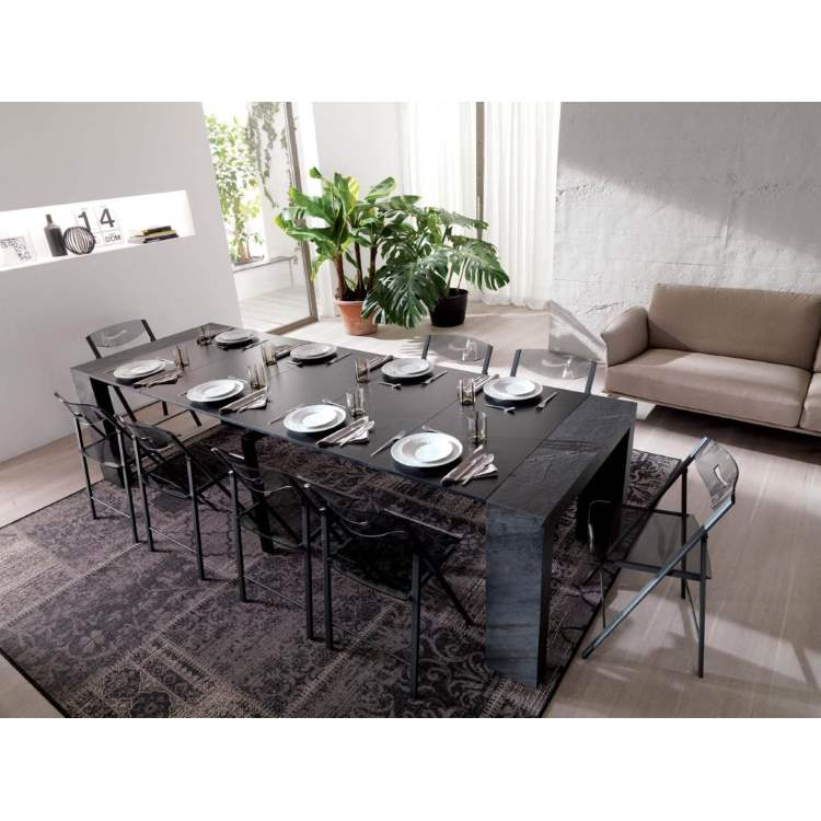 dining table set with plates and napkins