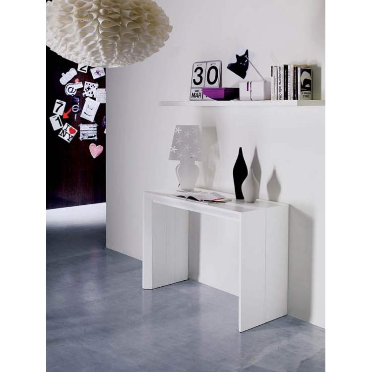 White Golia console table by Ozzio Italia