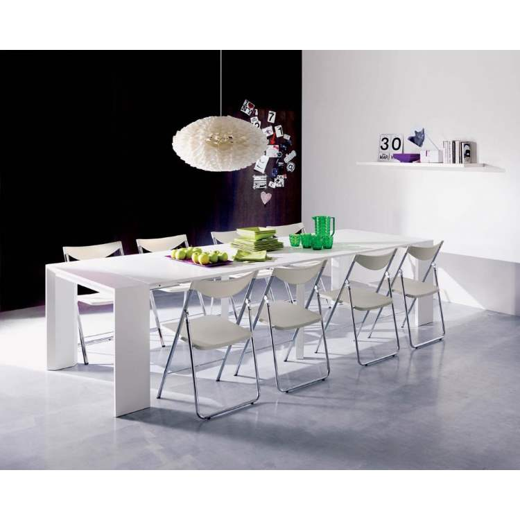 White Italian dining table