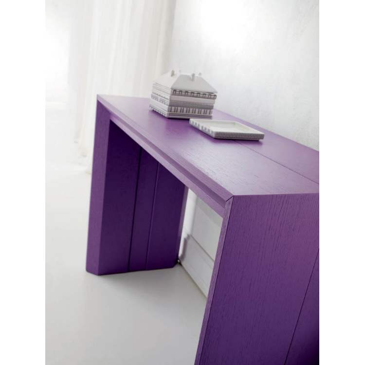 purple Italian console table