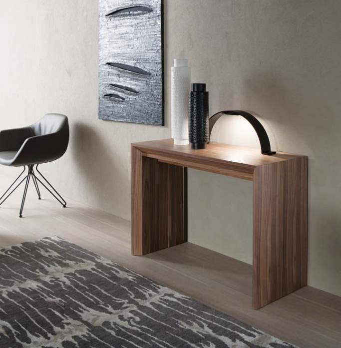 Italian console table that  transforms to 10 seat dining table by Ozzio Italia