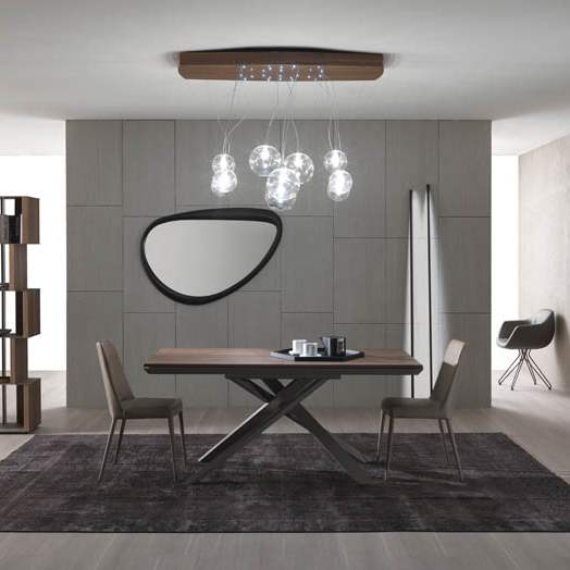 Ozzio Italia expandable wooden table