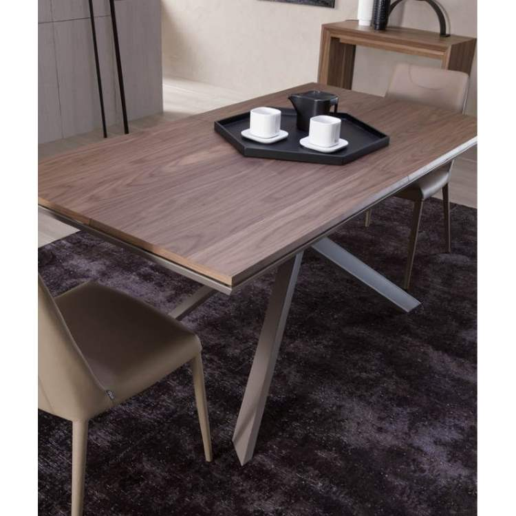 Italian designer table with cappuccino cups