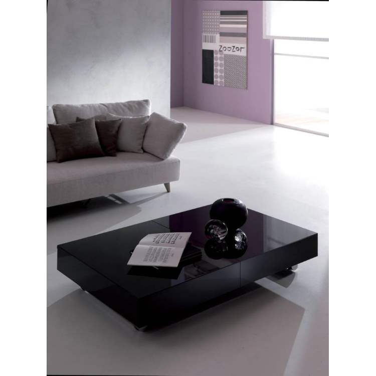 Italian coffee table by Ozzio Italia in black