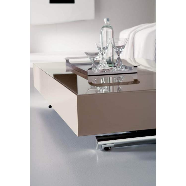 Coffee table by Ozzio Italia in light tan color
