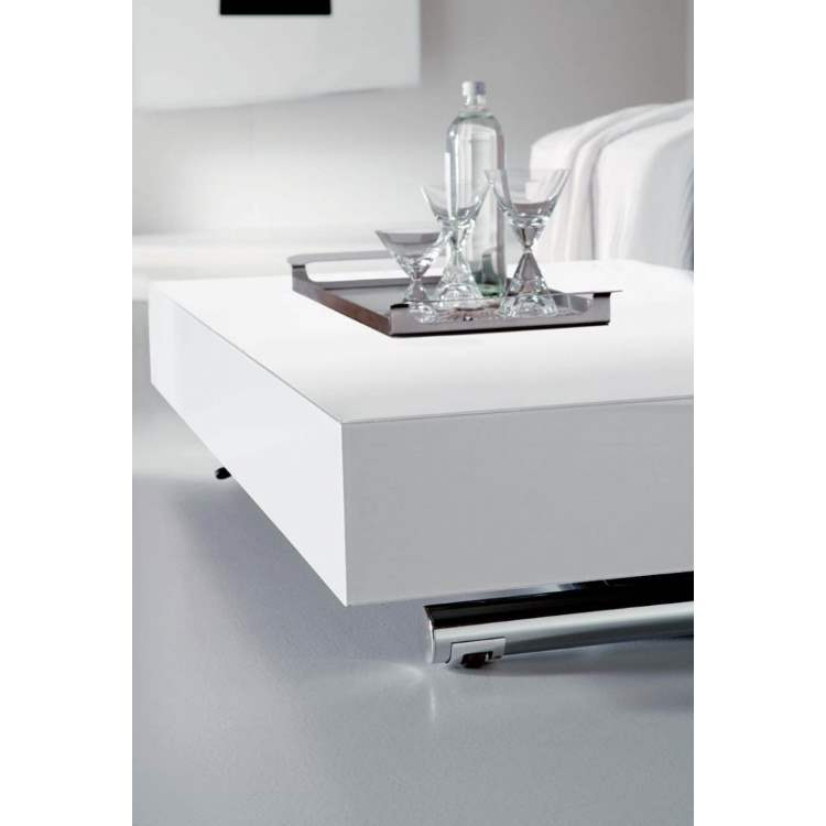 white table with tray and martini glasses