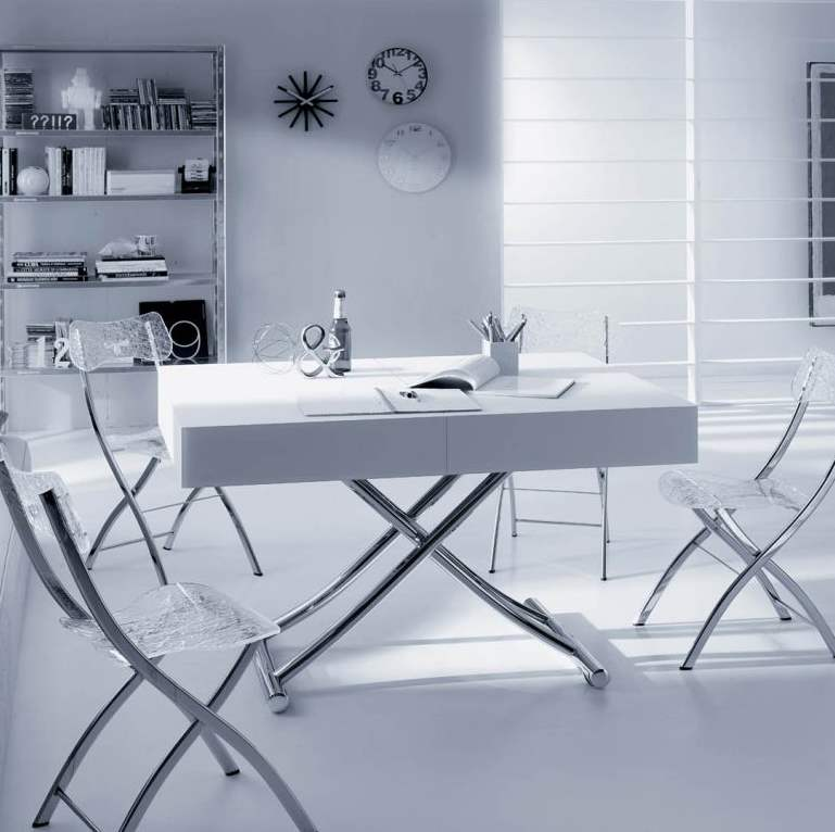 White room with white Italian furniture in it