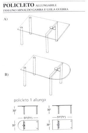 Policleto Glass Dining Table - italydesign.com