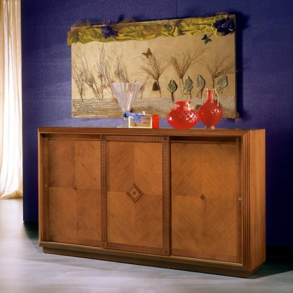 Air Sideboard 0347 Fumo Polished Glass