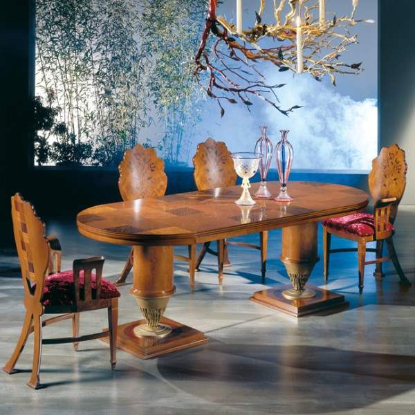 """Quadrifoglio"" Table TA32 - High-end expandable wooden dining table by Carpanelli"