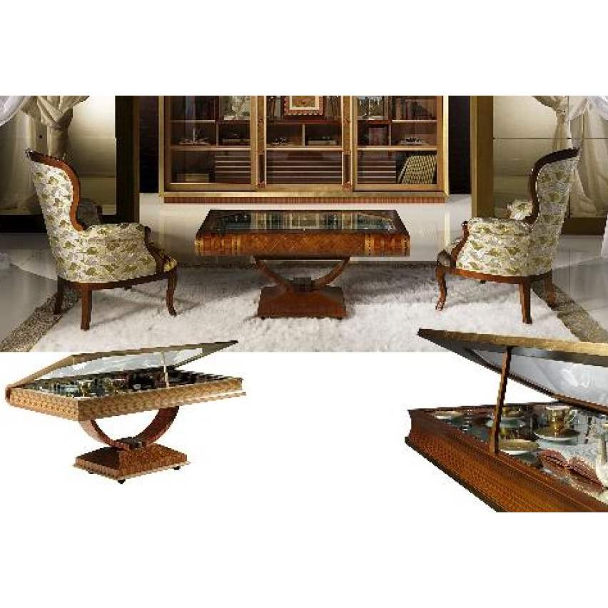 Luxury wooden  coffee table  by Carpanelli