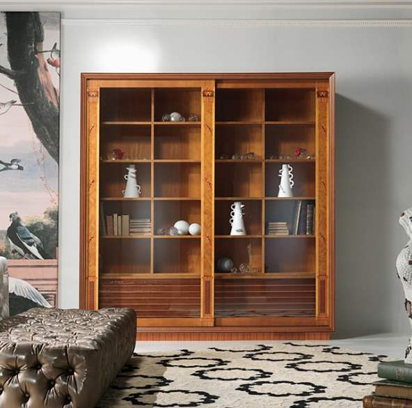 The Frames' glass cabinet-bookcase 2 doors VL25