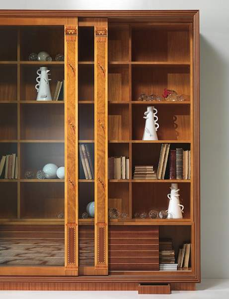 'The Frames' glass cabinet-bookcase 2 doors VL25