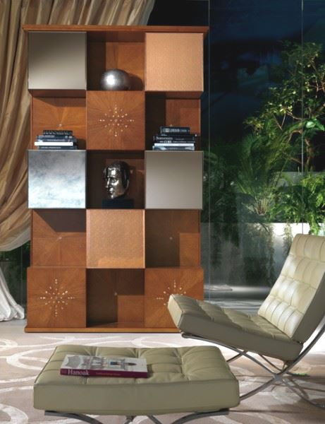 Mondrian wall unit with mirrors MB41